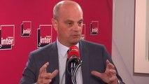 """Jean-Michel Blanquer, à propos des 1800 suppressions de postes annoncées dans l'Éducation Nationale: """" Au moins 400 postes administratifs"""""""