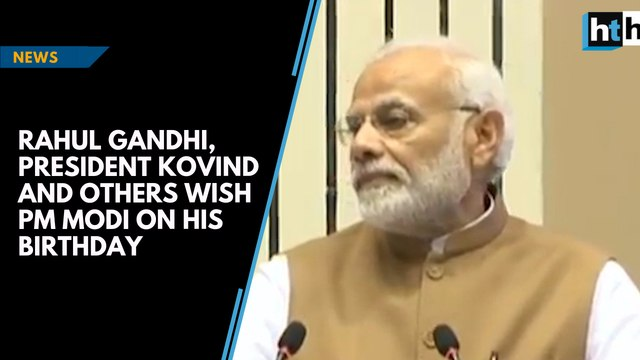 Rahul Gandhi, President Kovind and others wish PM Modi on his birthday