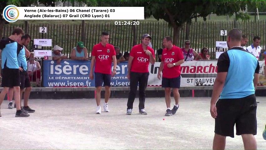 Demi-finales, première étape du Super 16 Masculin, Saint-Pierre de Chérennes 2018