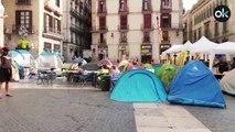 Acampada en plaza Sant Jaume