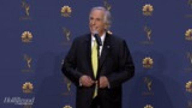Henry Winkler Jokes About Wearing Rubber Pants in Anticipation of Emmy Win   Emmys 2018