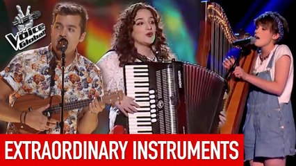 The Voice   EXTRAORDINARY INSTRUMENTS in The Blind Auditions