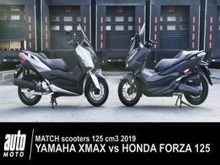 Match Honda Forza vs Yamaha XMAX 125 cm3 2018 - Auto moto