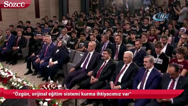 """Milli Eğitim Bakanı Ziya Selçuk: """"Özgün, orijinal eğitim sistemi kurma ihtiyacımız var"""""""