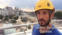 Jeremy Sergent, cordiste à la gare de Dijon