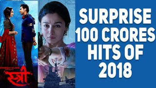 4 Unexpected 100 Crores Hits Of 2018 | Stree | Raazi | SKTKS | Raid