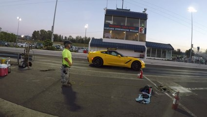 A Tesla Model 3 Performance Crushes A C7 At The Drag Strip