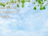 Hanalei Bay  Kauai Hawaii  Woody on Beach 24x36 Giclee Gallery Print Wall Decor Travel