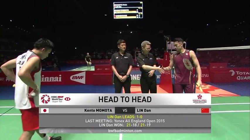 Highlight Kento Momota Vs Lin Dan Quarter Final Japan Open 2018