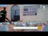 الهلال الأحمر الإماراتي يواصل توزيع وجبات الإفطار و السحور الجاهزة على سكان المكلا