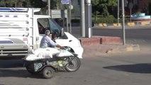 Kilis'te Motosikletlilerin Tehlikeli Yolculuğu Kamerada