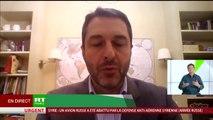 Xavier Moreau à propos de l'avion russe abattu par Damas à cause d'Israël