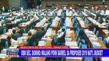 DBM Sec. Diokno: Walang pork barrel sa proposed 2019 national budget
