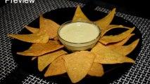 Nacho Chips Recipe With Cheese Dip Sauce - Corn Tortilla Chips - Homemade Nachos Recipe