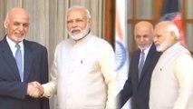 PM Modi meets Afghanistan President Ashraf Ghani in Hyderabad House | Oneindia News