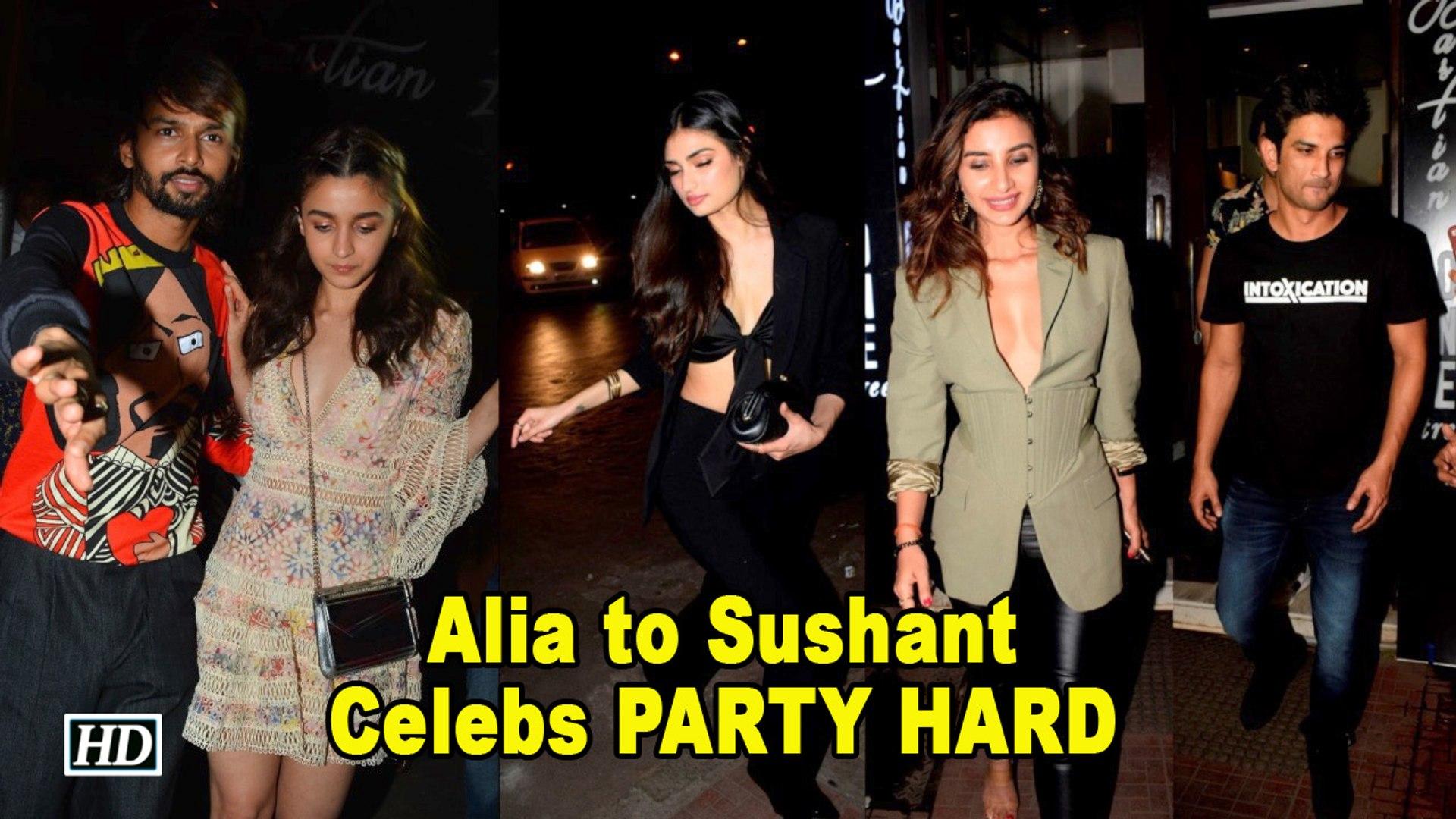 Alia, Sushant, Patralekha PARTY HARD at Akansha Ranjan's B'day