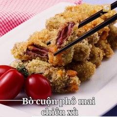 Ăn món Pháp tại gia với 'Bò cuộn phô mai chiên xù' vừa sang, vừa sành điệu, ngon như 'chú' Quang Đại