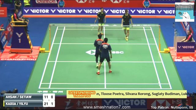 Mohammad AHSAN/ Hendra SETIAWAN vs HUANG Kaixiang/ WANG Yilyu - MD  R16