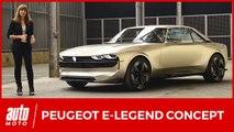 Peugeot e-Legend Concept (2018) : la 504 du futur