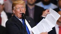 Trump Brings A List Of His Accomplishments To A Rally And Reads From It
