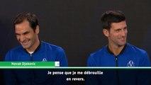 Laver Cup - Federer et Djokovic plaisantent avant leur double