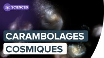 Des carambolages cosmiques aux amas de galaxies