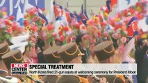 North Korea rolls out red carpet treatment for President Moon