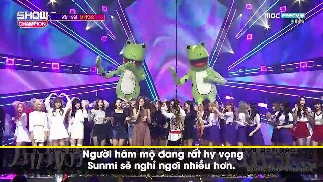 Sunmi tiếp tục khiến fan lo lắng khi liên tục hụt hơi, biểu hiện kiệt sức trên show âm nhạc