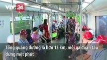 Những hình ảnh chạy thử nghiệm đầu tiên của tuyến tàu Cát Linh - Hà Đông   VTV24