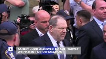 Ashley Judd Allowed to Sue Harvey Weinstein for Defamation