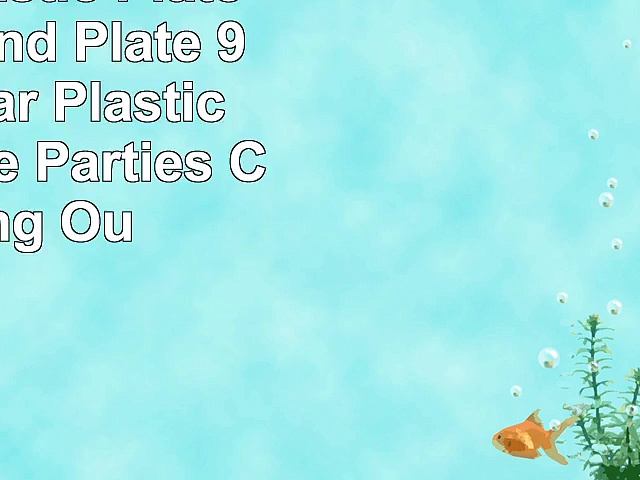 Round Plastic Plate Clear Round Plate  9 Plate  Clear  Plastic  Disposable  Parties