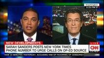 Sarah Sanders posts New York Times Phone Number to urge calls on Op-Ed source. #SarahSanders #NewYork #NYT #CNN #News