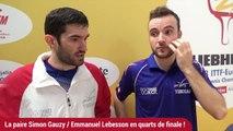 La paire Lebesson / Gauzy en quarts !