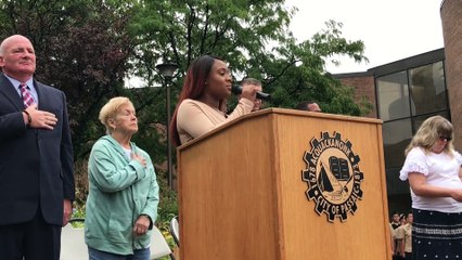 Ken Lucianin at Passaic's 9/11 ceremony held at City Hall