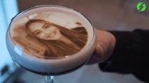 Une machine à café qui reproduit votre portrait
