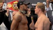 Boxe - La pesée du combat entre Alexander Povetkin et Anthony Joshua