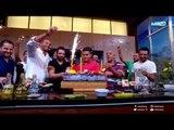 لقمة هنية | علاء الشربيني يحتفل بعيد ميلادة مع طاقم عمل البرنامج