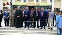وزير الأوقاف يشارك في تحية العلم بجامعة الأزهر