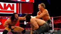 seth rollins vs dolph ziggler and drew mcintyre full match wwe monday night raw august 06 2018