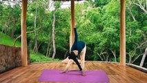 Yoga: पेट, जांघों, हिप्स और कमर की चर्बी कम करेगा परिवृत्त त्रिकोणासन | Boldsky