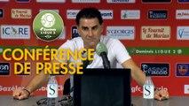 Conférence de presse Gazélec FC Ajaccio - AS Nancy Lorraine (0-1) : Albert CARTIER (GFCA) - Didier THOLOT (ASNL) - 2018/2019
