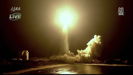 Launch of Japanese HTV-7 on H-IIB Rocket heading to International Space Station