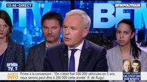 """""""Nous travaillons sur une vignette pour taxer les camions étrangers"""", explique François de Rugy"""