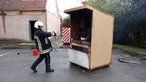 Démonstration d'un feu de friteuse