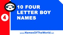10 four letter boy names - the best baby names - www.namesoftheworld.net