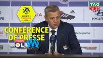 Conférence de presse Olympique Lyonnais - Olympique de Marseille (4-2) : Bruno GENESIO (OL) - Rudi GARCIA (OM) - 2018/2019