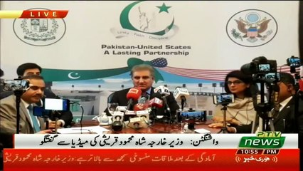Federal Foreign Minister Shah Mehmood Qureshi's Press Conference at Washington USA