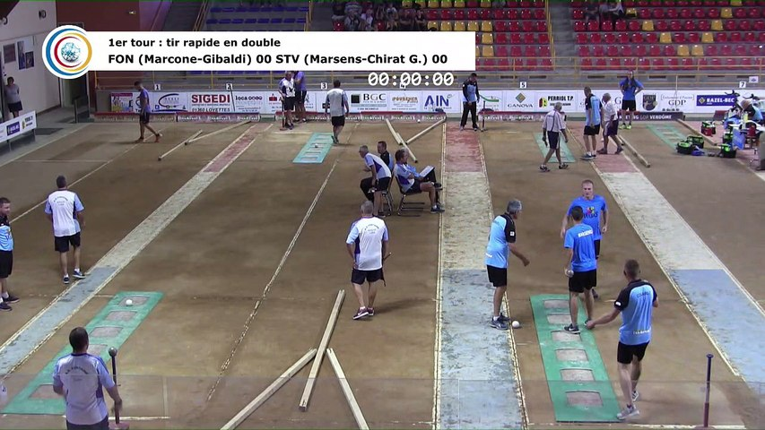 Premier tour, tir rapide double, France Club Elite 1, J1, Saint-Vulbas contre Fontaine,  saison 2018/2019