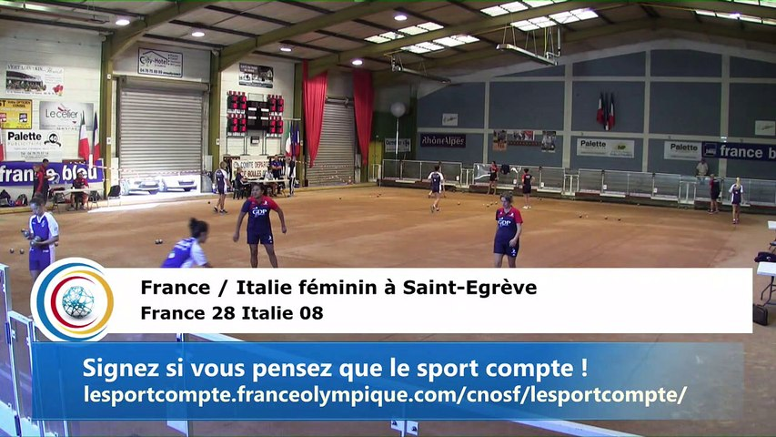 Simple et combiné, France / Italie féminin, Saint-Egrève 2018