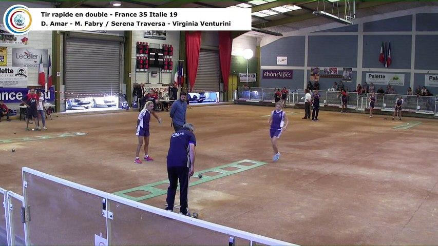 Tir rapide en double, France / Italie féminin, Saint-Egrève 2018